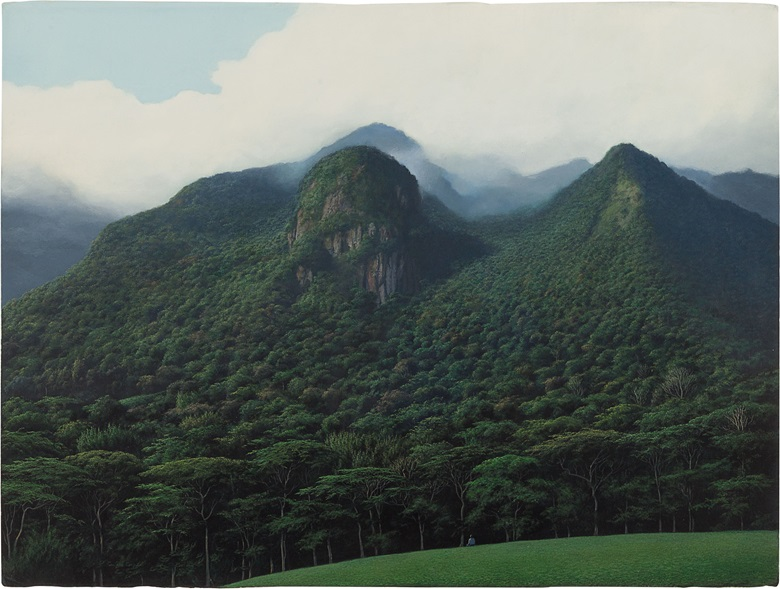 Tomás Sánchez (b. 1948), Contemplador de Montañas, 2005. Acrylic on paper. 22½ x 30 in (57.2 x 76.2 cm). Estimate $35,000-45,000. This work is offered in Latin American Art on 24-25 May at Christie's in New York