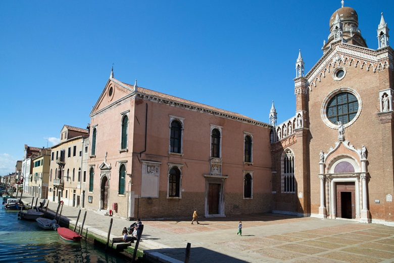 The church of Madonna dellOrto, home to Cima's St John the Baptist with Other Saints © Peter Barritt  Alamy