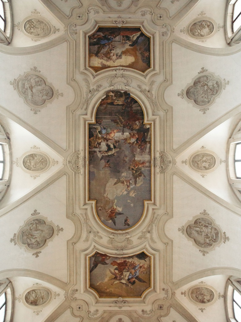 The ceiling fresco at Santa Maria dei Gesuati, painted by Giovanni Batista Tiepolo. Photo Mattia Balsamini