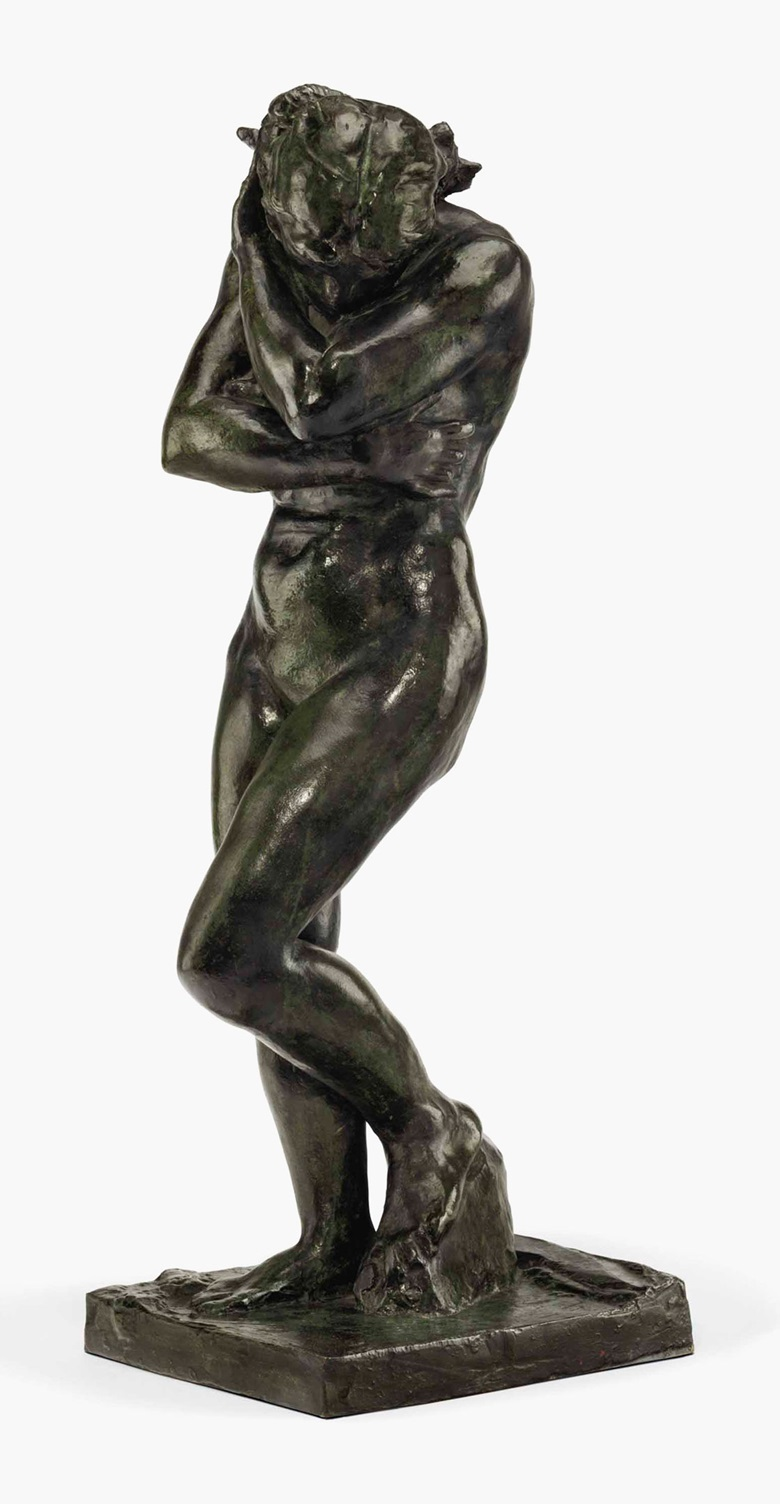 Auguste Rodin (1840-1917), Eve, petit modèle (modèle à la base carrée et aux pieds plats), conceived in 1881 and cast in 1886. Bronze with dark green and brown patina. Height 28¾ in (73 cm). Estimate $2,500,000-3,500,000. This lot is offered in Impressionist & Modern Art Evening Sale on 15 May 2017, at Christie's in New York