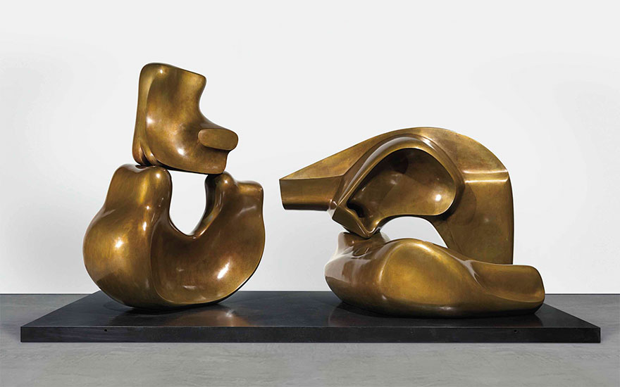 Henry Moore (1898-1986), Large Four Piece Reclining Figure, conceived and cast in 1972-73. Bronze with brown patina, Length 157½ in (400 cm). Estimate $6-8 million. This lot is offered in