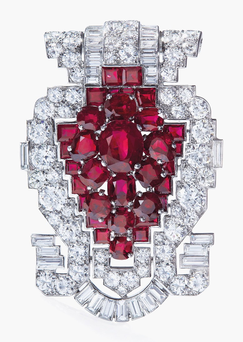 An Art Deco Cartier Brooch From The Collection Of Actress