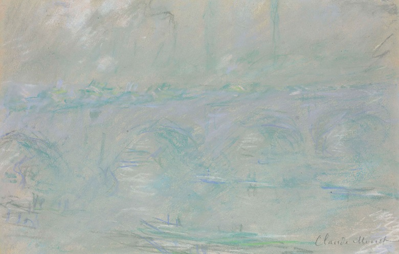 Claude Monet (1840-1926), Waterloo Bridge, drawn in London in January-February 1901. Pastel on paper. 12¼ x 19 in (31.2 x 48.3 cm). This lot was offered in the Impressionist & Modern Art Works on Paper Sale on 16 May 2017 at Christie's in New York and sold for $511,500