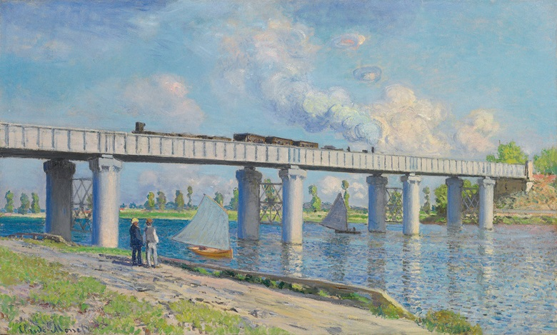 Claude Monet (1840-1926), Le Pont du chemin de fer à Argenteuil, 1873. Oil on canvas. 23⅝ x 38¾ in (60 x 98.4 cm). Sold for $41,480,000 on 6 May 2008 at Christie's in New York