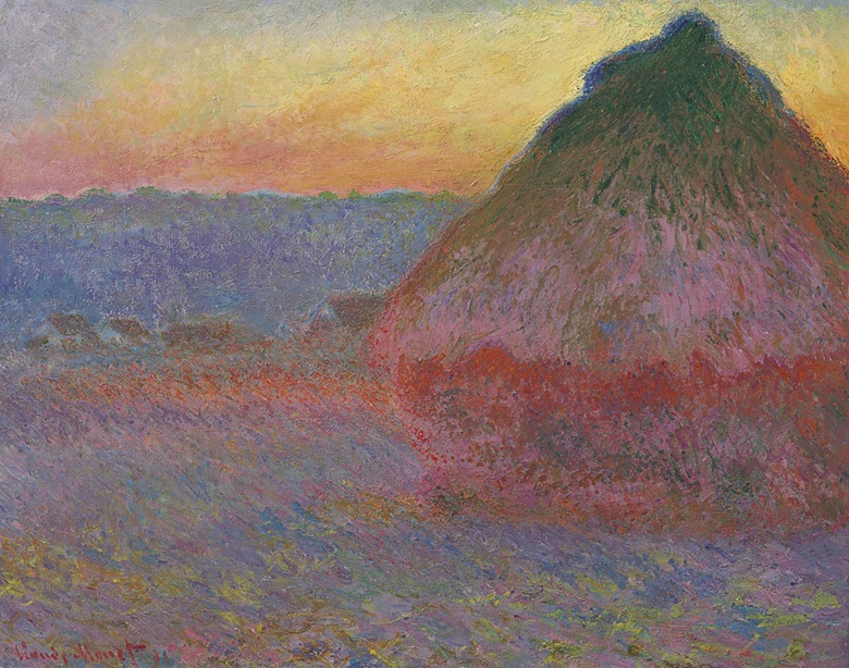 Claude Monet (1840–1926), Meule, 1891. Oil on canvas, 28⅝ x 36¼ in (72.7 x 92.1 cm). Sold for $81,447,500 on 16 November 2016 at Christie's in New York