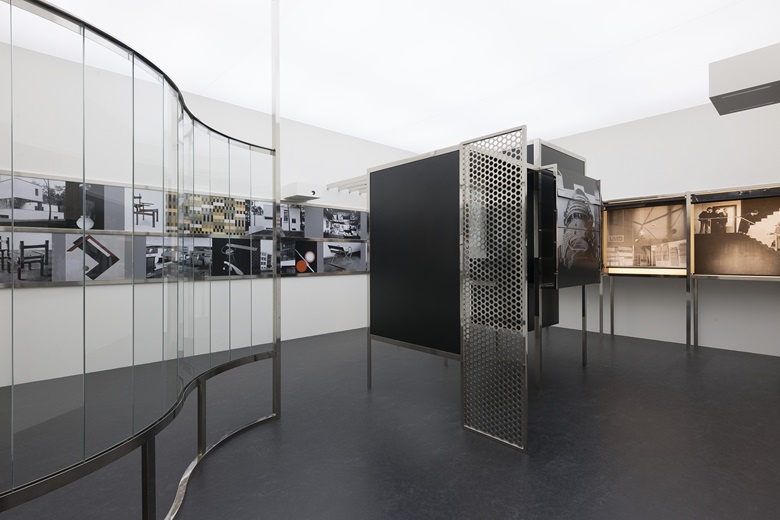 László Moholy-Nagy, Room of the Present, Constructed 2009 from plans and other documentation dated 1930. Mixed media. Inner dimensions 137¾ x 218⅞ x 318¾ in. Van Abbemuseum, Eindhoven, 2953, © 2017 Hattula Moholy-NagyArtists Rights Society (ARS), New YorkVG Bild-Kunst, Bonn, photography by Peter Cox, Eindhoven, The Netherlands