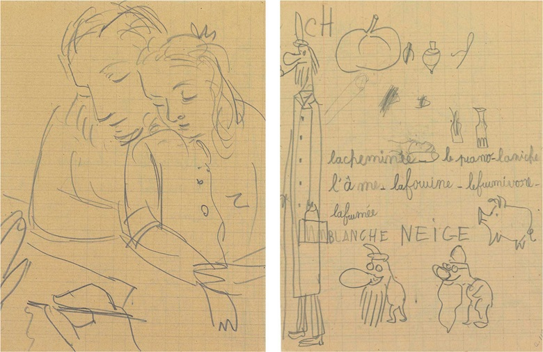 Pablo picasso 1881 1973 marie thérèse et maya recto