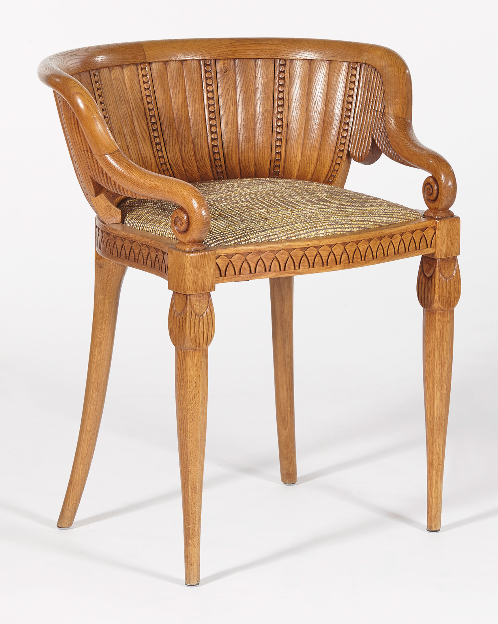 Carved Oak, Reupholstered. 76.5 X 66 X 61.5 Cm. Estimate: U20ac40,000 60,000.  This Work Is Offered In An Educated Eye, Chefs Du0027oeuvre Du0027une Collection  Privée ...
