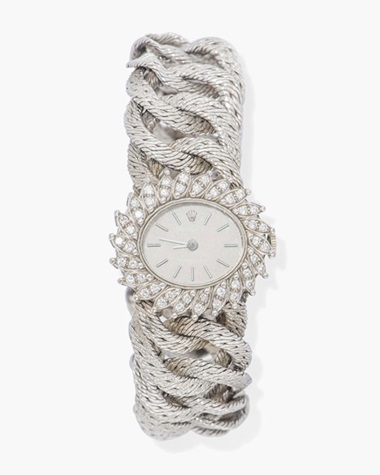05b178d11 A ladys diamond bracelet watch, by Rolex. This lot was offered in Jewellery  &