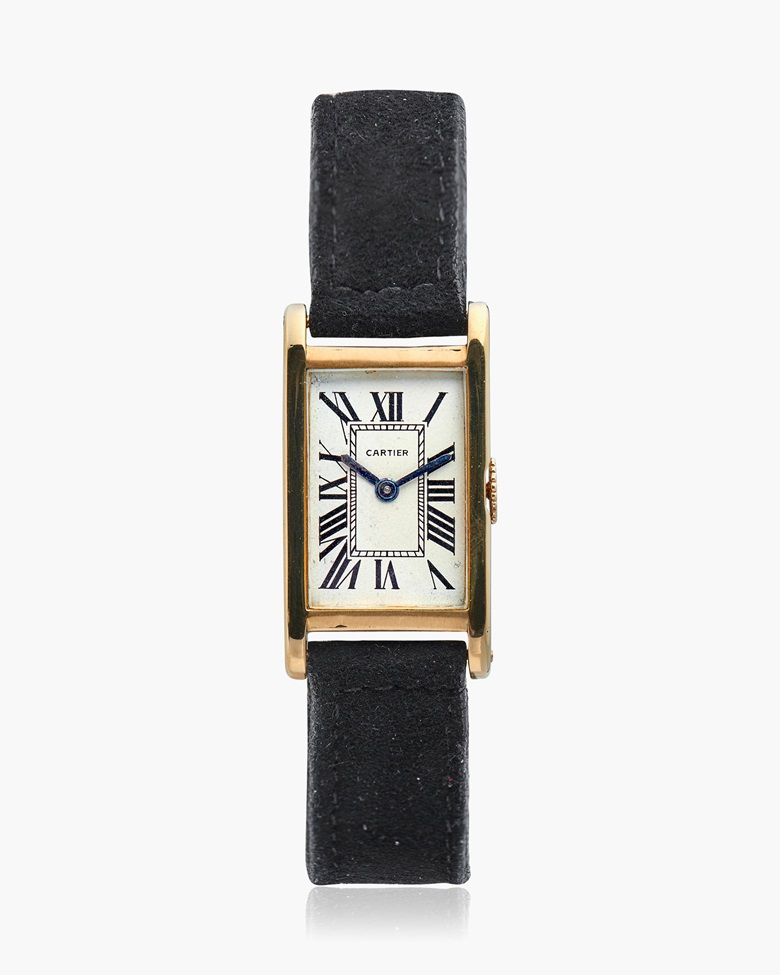 Cartier Tank 18k gold wristwatch, circa 1930s