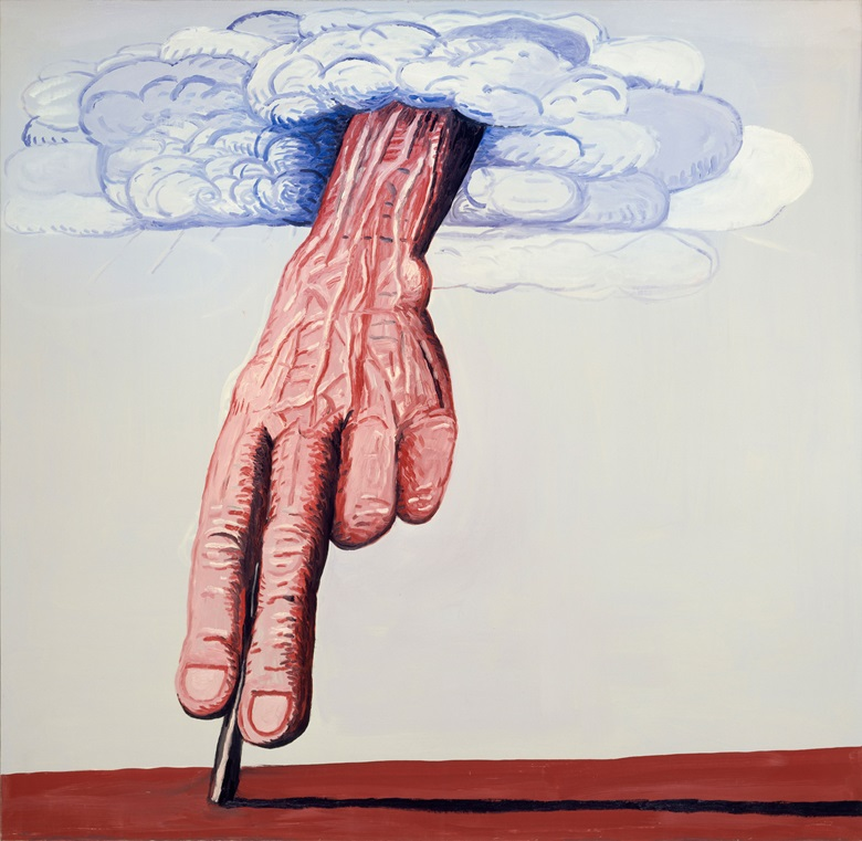 Philip Guston, The Line, 1978. Oil on canvas. 180.3 x 186.1 cm (71 x 73¼ in) © The Estate of Philip Guston, Private Collection. Photo Genevieve Hanson