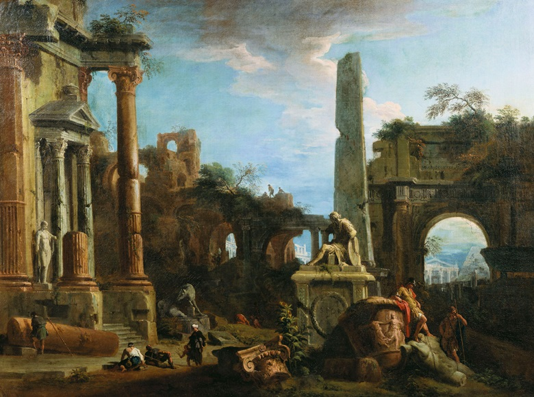 Marco Ricci, Caprice View with Roman Ruins, c. 1729. Royal Collection Trust © Her Majesty Queen Elizabeth II 2016