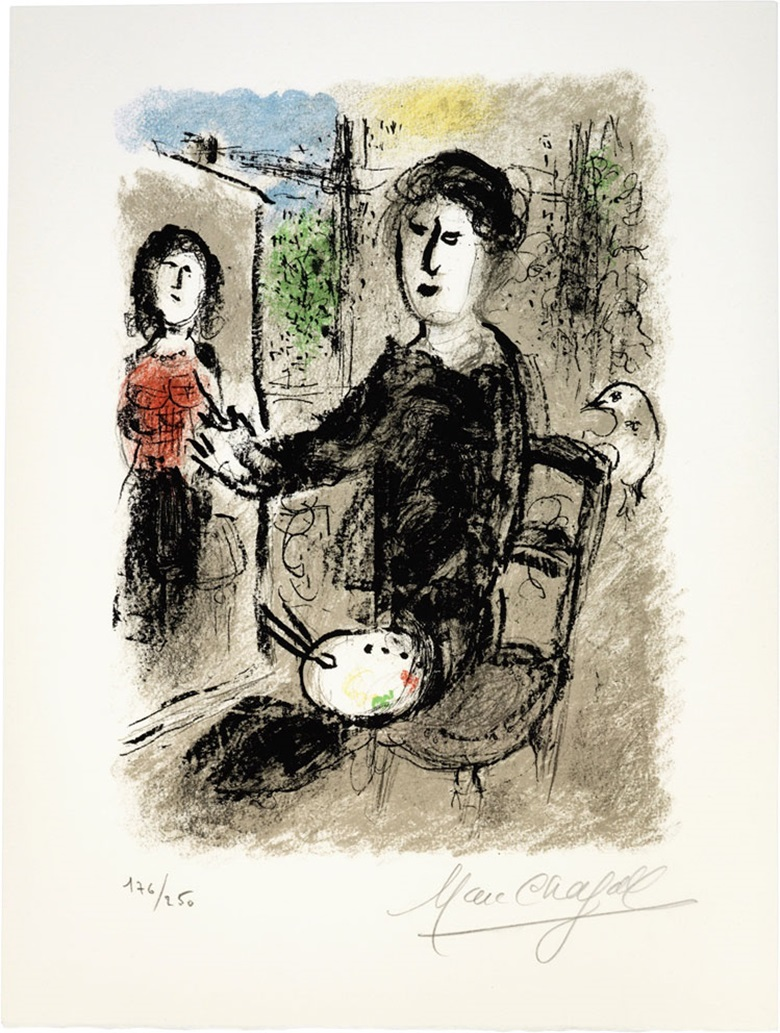 Marc Chagall (1887-1986). Les Ateliers de Chagall, 1976. Overall 19 x 14 in (483 x 362 mm). Album. Estimate $5,000-7,000. This lot is offered in Modern Editions, 9-18 May 2017, Online