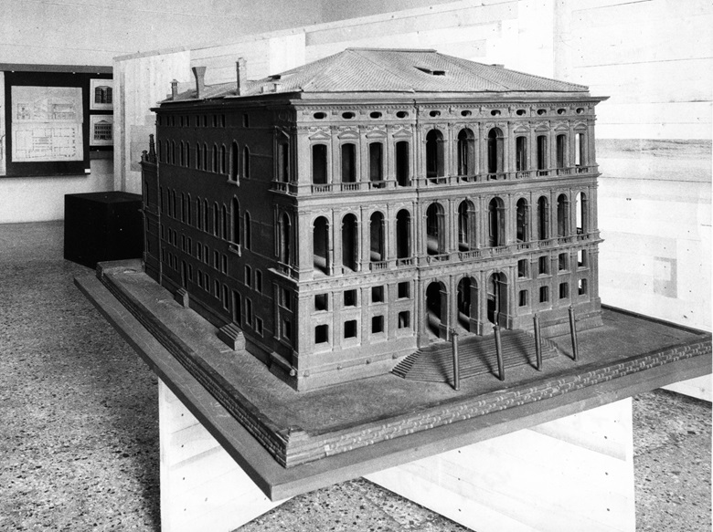 A model of the palazzo as originally designed. Photo courtesy of Peggy Guggenheim Collection Archives