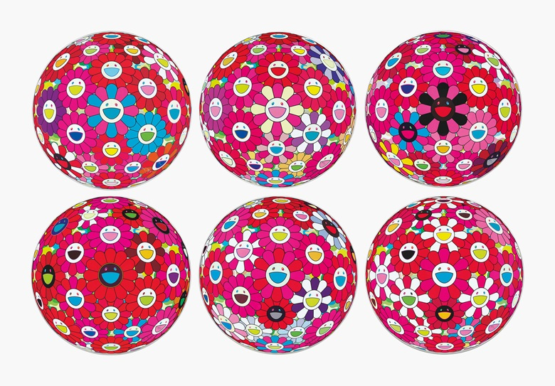 Takashi Murakami (Japan, b. 1962), Flowerball Series. Estimate $3,000-5,000. This lot is offered in Asian 20th Century and Contemporary Art Online PaperEditions on 22-29 May 2017