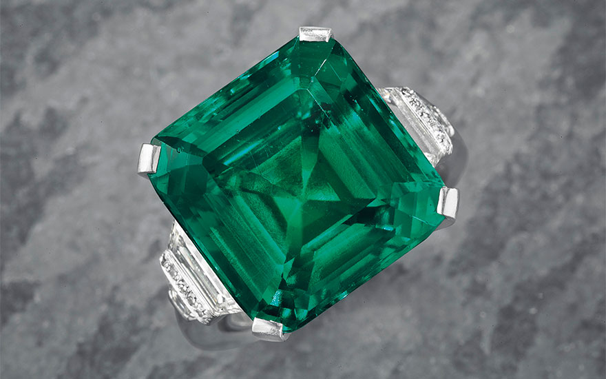 The Rockefeller Emerald Comes To Auction Christie S