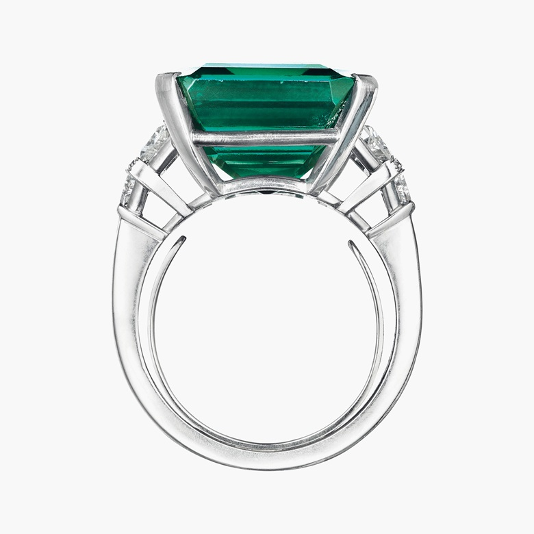 The Rockefeller Emerald an emerald and diamond ring, by Raymond C. Yard. Set with an octagonal step-cut emerald of approximately 18.04 carats. Estimate $4-6 million. This lot is offered in Magnificent Jewels and The Rockefeller Emerald on 20 june at Christie's in New York