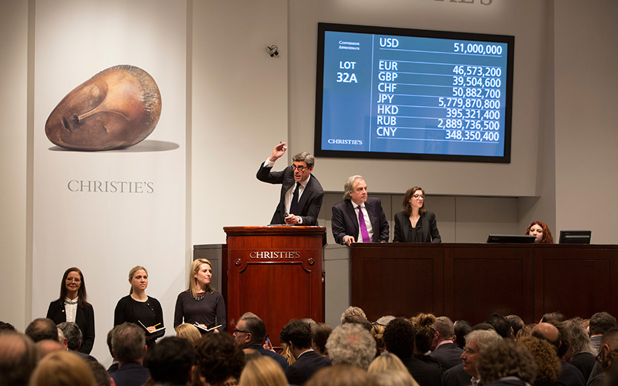 Christie's continues to lead the art market in 2017