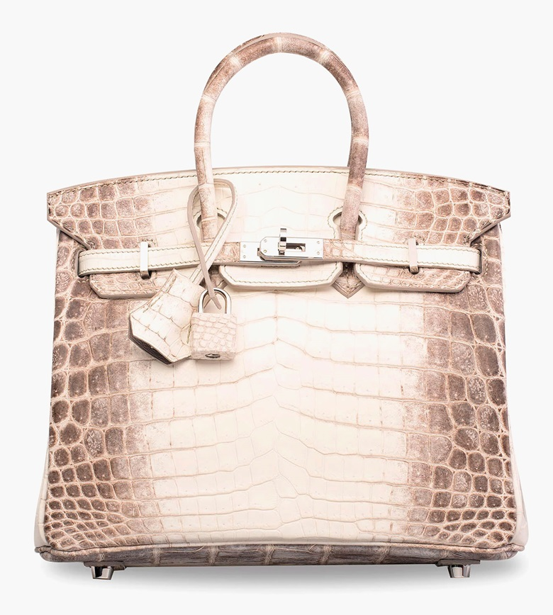 A rare matte white Himalaya Niloticus Crocodile Birkin 25 with palladium hardware, Hermès, 2014. 25 x 19 x 13 cm. Sold for HK$875,000 in Handbags & Accessories on 31 May 2017 at Christie's in Hong Kong