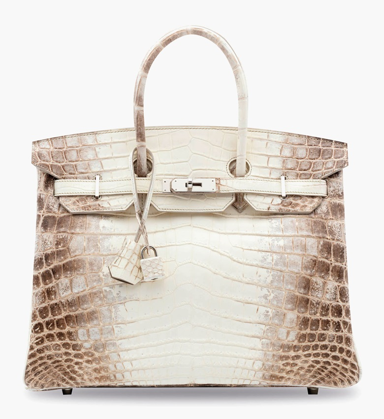 A rare, Matte White Himalaya Niloticus Crocodile Birkin 35 with palladium hardware. Hermès, 2012. 35 x 25 x 18 cm. Estimate HK$600,000-800,000. This lot is offered in Handbags & Accessories  on 31 May 2017 at Christie's in Hong Kong