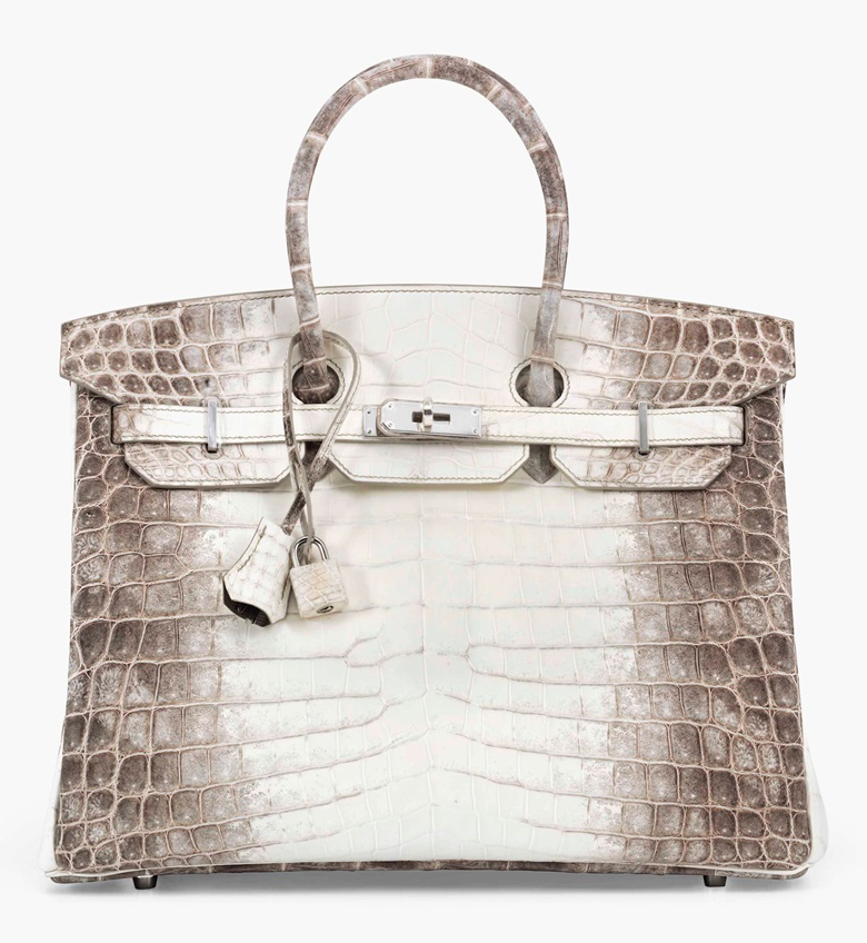 A rare Matte White Himalaya Niloticus Crocodile Birkin 35 with palladium hardware. Hermès, 2015. 35 x 25 x 18 cm. Estimate £60,000-80,000. This lot is offered in Handbags & Accessories on 12 June 2017 at Christie's in London, King Street