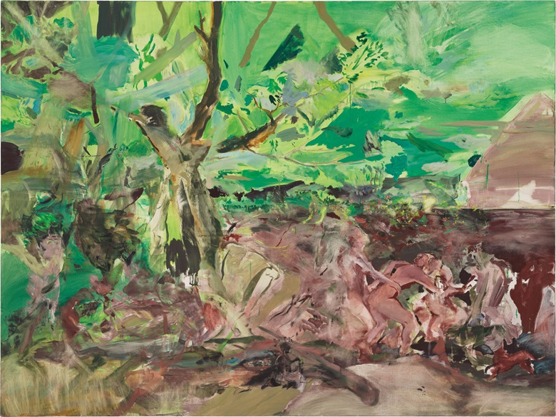 Cecily Brown (England, b. 1969), The Quarrel, 2004. Oil on canvas. 183 x 244 cm (72 x 96 in). Estimate $HK 4,600,000-6,200,000. This work is offered in Contemporaries Voices from East and West  Asian 20th Century & Contemporary Art Evening Sale on 27 May at Christie's in Hong Kong