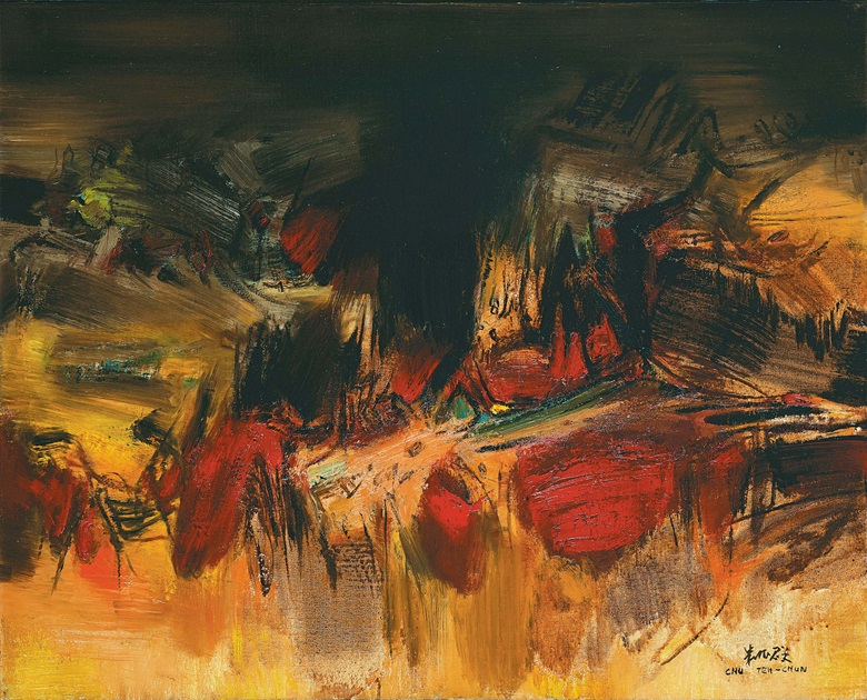 Chu Teh-Chun (Zhu Dequn) (FranceChina, 1920-2014), No. 167, 1964. Oil on canvas. 65.2 x 81 cm (25⅝ x 31⅞ in). This work is offered in Contemporaries Voices from East and West  Asian 20th Century & Contemporary Art Evening Sale on 27 May at Christie's in Hong Kong