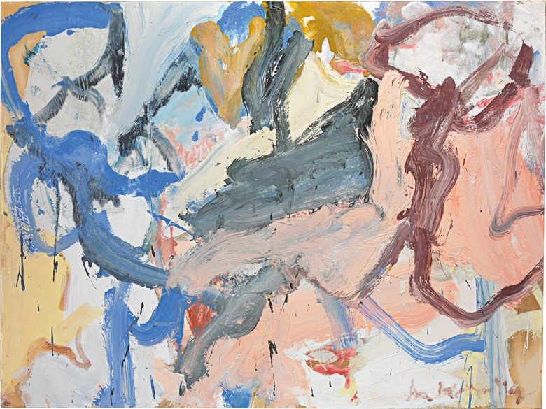 Willem de Kooning (USA, 1904-1997), Landscape, 1972. Oil on two joined sheets of paper laid down on canvas. 91.4 x 121.9 cm (36 x 48 in). Estimate HK$ 11,500,000-19,500,000. This work is offered in Contemporaries Voices from East and West  Asian 20th Century & Contemporary Art Evening Sale on 27 May at Christie's in Hong Kong
