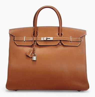 A rare, fauve barenia leather Birkin 40 with palladium hardware. Hermès, 2007. 40 x 28 x 20 cm. Estimate £4,000-6,000. This lot is offered in Handbags & Accessories on 12 June 2017 at Christie's in London, King Street  Created with an Hermès historic leather that develops patina over the course of time, this workhorse bag will carry you through day after day after