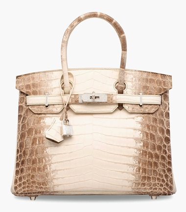 An exceptional, matte white Himalaya niloticus crocodile Diamond Birkin 30 with 18k white gold & diamond hardware. Hermès, 2014. 30 x 22 x 15 cm. Estimate HK$1,500,000-2,000,000. This lot is offered in Handbags & Accessories  on 31 May 2017 at Christie's in Hong Kong The ultimate HGB for the most discerning collector — only a handful of meticulously-crafted Himalayan