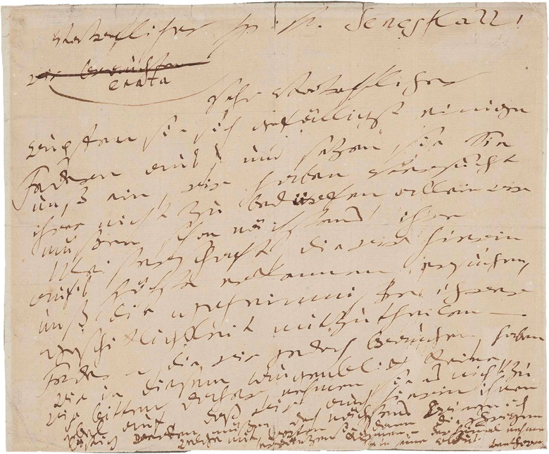 Ludwig van Beethoven (1770-1827). Autograph letter signed (Beethoven) to [Nikolaus Zmeskall von Domanovecz], n.p., Vienna, n.d., c. 1801. One page, oblong 8vo (188 x 229 mm), (edges repaired from verso with tape). Anderson, Letters, 155. (MOG 105). Estimate $40,000-60,000. This lot is offered in The Metropolitan Opera Guild Collection on 15 June 2017, at Christie's in New York