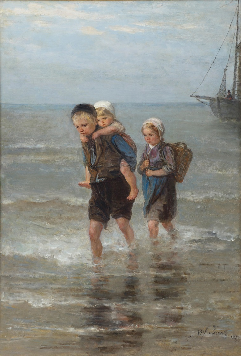 Jozef Israëls (1824-1911), Children in the Breakers, 1877. Signed and dated 'Jozef Israels 1877' (lower right). Oil on canvas. 77.5 x 53.5 cm. This work was offered in The Former Kamerbeek Collection sale on 12 June at Christie's in Amsterdam and sold for €31,250