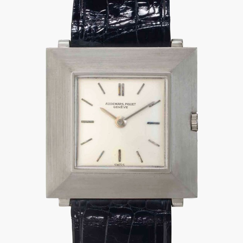Audemars Piguet. A fine 18k white gold square-shaped wristwatch, belonging to American Major League Baseball legend Joe DiMaggio. Signed Audemars Piguet, Geneve, Ref. 5178BC. Movement No. 84188. Case No. 24867. Manufactured in 1962. Estimate $25,000-30,000. This lot is offered in Rare Watches and American Icons on 21 June 2017, at Christie's in New York