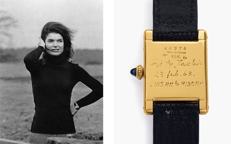 Jackie Kennedy's Cartier Tank  auction at Christies