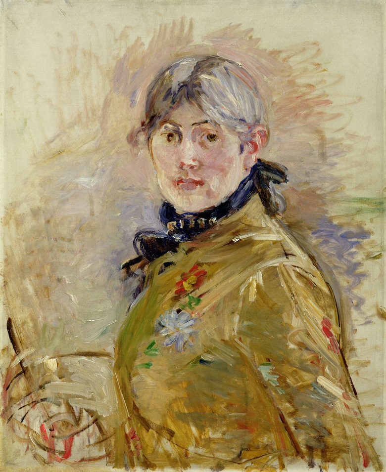 Berthe Morisot (1841-1895), Self-Portrait, 1885. Oil on canvas. 24 x 19 11⁄16 in. Musée Marmottan Monet, Paris. Photo Bridgeman Images. Courtesy American Federation of Arts