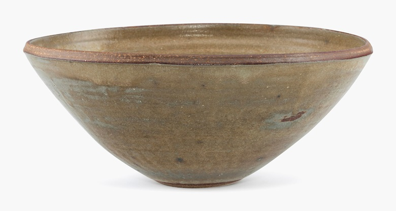 Martha Longenecker (1920-2013), a large deep stoneware bowl. Estimate US$800-1,000, offered in Mingei Art of Japan including works from the Martha Longenecker Collection, online, 22-29 June