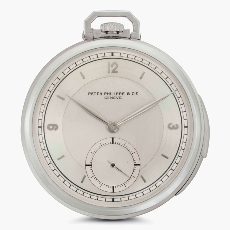 Patek Philippe. A fine platinum minute repeating openface pocket watch with two-tone dial. Signed Patek Philippe & Cie., Genève. Movement No. 198099. Case No. 414229. Manufactured in 1927. Estimate $60,000-90,000. This lot is offered in Rare Watches and American Icons on 21 June at Christie's in New York