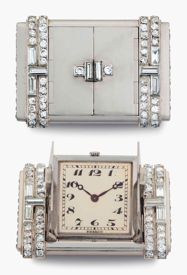 Vacheron Constantin & Verger Frères. A fine and attractive platinum and diamond-set purse-form watch. Signed Vacheron Constantin, Genève. Movement No. 408061. Case No. 12655. Manufactured in 1930. This lot was offered in Rare Watches and American Icons on 21 June at Christie's in New York