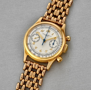 Patek Philippe. 18k gold ref. 1463J, manufactured in 1946 and sold in 1947