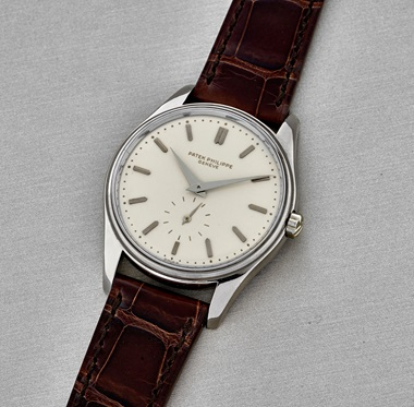 Patek Philippe. White gold ref. 3428G, manufactured and sold in 1962