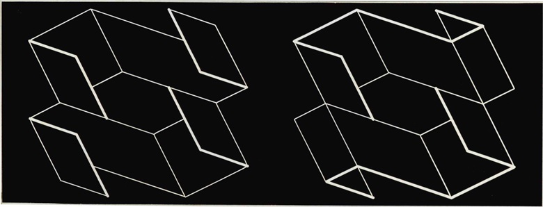 Josef Albers (1888-1976), Duo H, 1966. Machine-engraved laminate mounted on plexiglas, 9 x 16¾ in (22.9 x 42.5 cm). Estimate $8,000-12,000. This lot is offered in First Open  Post-War & Contemporary Art, 11-20 July, Online