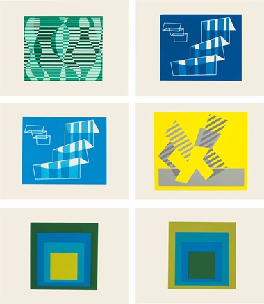 Josef Albers (1888-1976), Formulations Articulation, 1972. Each volume 20¾ x 16 x 2½ in (527 x 406 x 64 mm). Estimate $8,000-12,000. This lot is offered in Contemporary Edition, 11-19 July 2017, Online