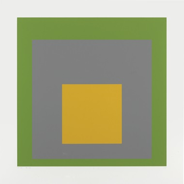Josef Albers (1888-1976), SP VIII, from SP, 1967. Image 19½ x 19⅝ in (495 x 498 mm.) , sheet 24⅛ x 24⅛ in (613 x 613 mm). Estimate $1,000-1,500. This lot is offered in Contemporary Edition, 11-19 July 2017, Online