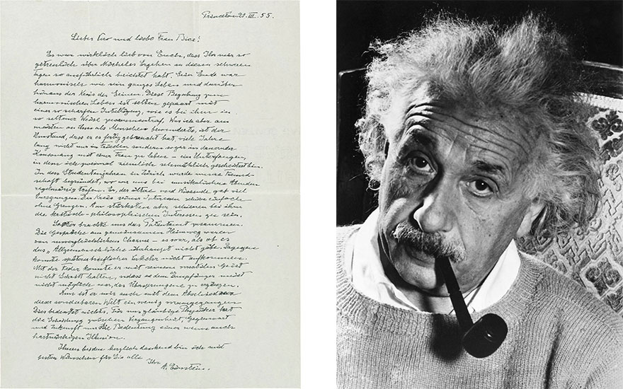 Time's arrow: Albert Einstein'
