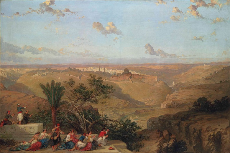 David Roberts (1796-1864), Jerusalem, from the South, 1860. Oil on canvas. 48½ x 72¼ in (123.2 x 183.5 cm). Sold for £962,500 on 30 June 2016 at Christie's in London