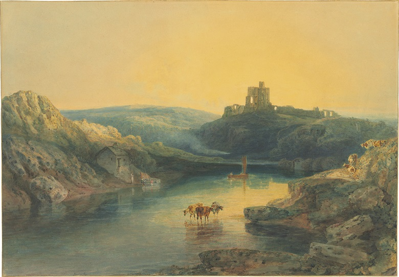 Joseph Mallord William Turner, R.A. (London 1775-1851), Norham Castle Sunrise. Pencil and watercolour heightened with gum arabic and with scratching out. 20⅜ x 29¼ in (51.7 x 74.4 cm). Estimate £500,000-800,000. This work is offered in Old Master Drawings & Watercolours on 5 July at Christie's London