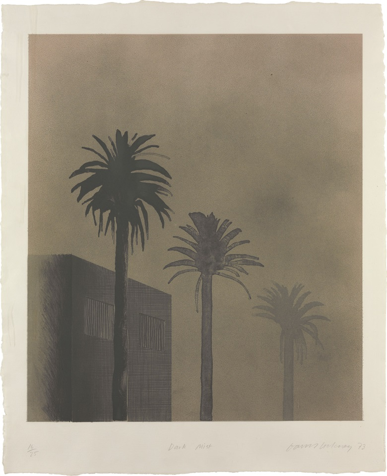 David Hockney (b. 1937), Dark Mist, 1973. Image 28⅞ x 24⅞ in (733 x 632 mm.); sheet 35 x 28½ in (889 x 724 mm). This lot was offered in Contemporary Editions, 11-19 July 2017, Online