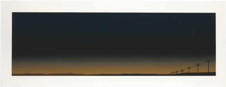 Ed Ruscha (b. 1937), Lets Keep in Touch, 1978. Image 14 x 45⅜ in (356 x 1153 mm); sheet 19 x 50⅛ in (483 x 1273 mm). This lot was offered in Contemporary Editions, 11-19 July 2017 Online, and sold for $13,750