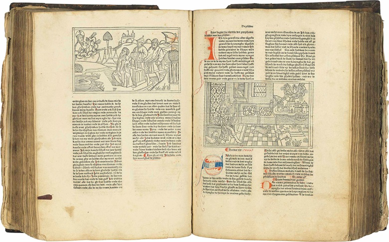 First edition of the Bible in Low German, and the first appearance in print of the celebrated large-scale woodcuts attributed to the Master of the Cologne Bibles. This lot was offered in Valuable Books and Manuscripts on 12 July 2017 at Christie's in London and sold for £239,000