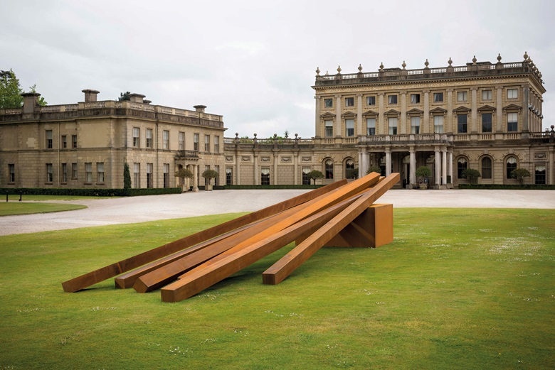 Bernar Venet at Cliveden in Buckinghamshire. Courtesy Archives Bernar Venet, New York and BlainSouthern. Photo Jonty Wilde